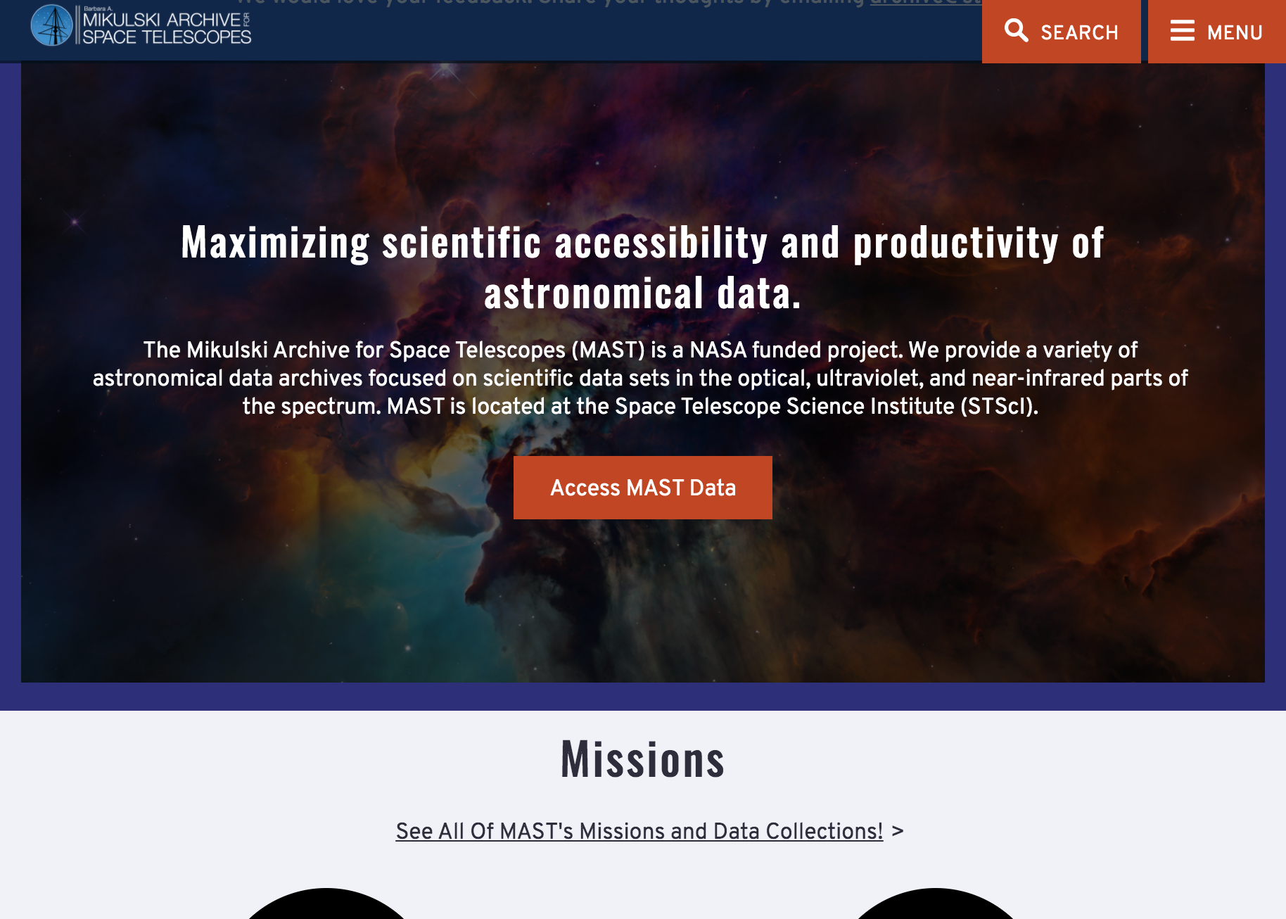 new MAST: Barbara A. Mikulski Archive for Space Telescopes