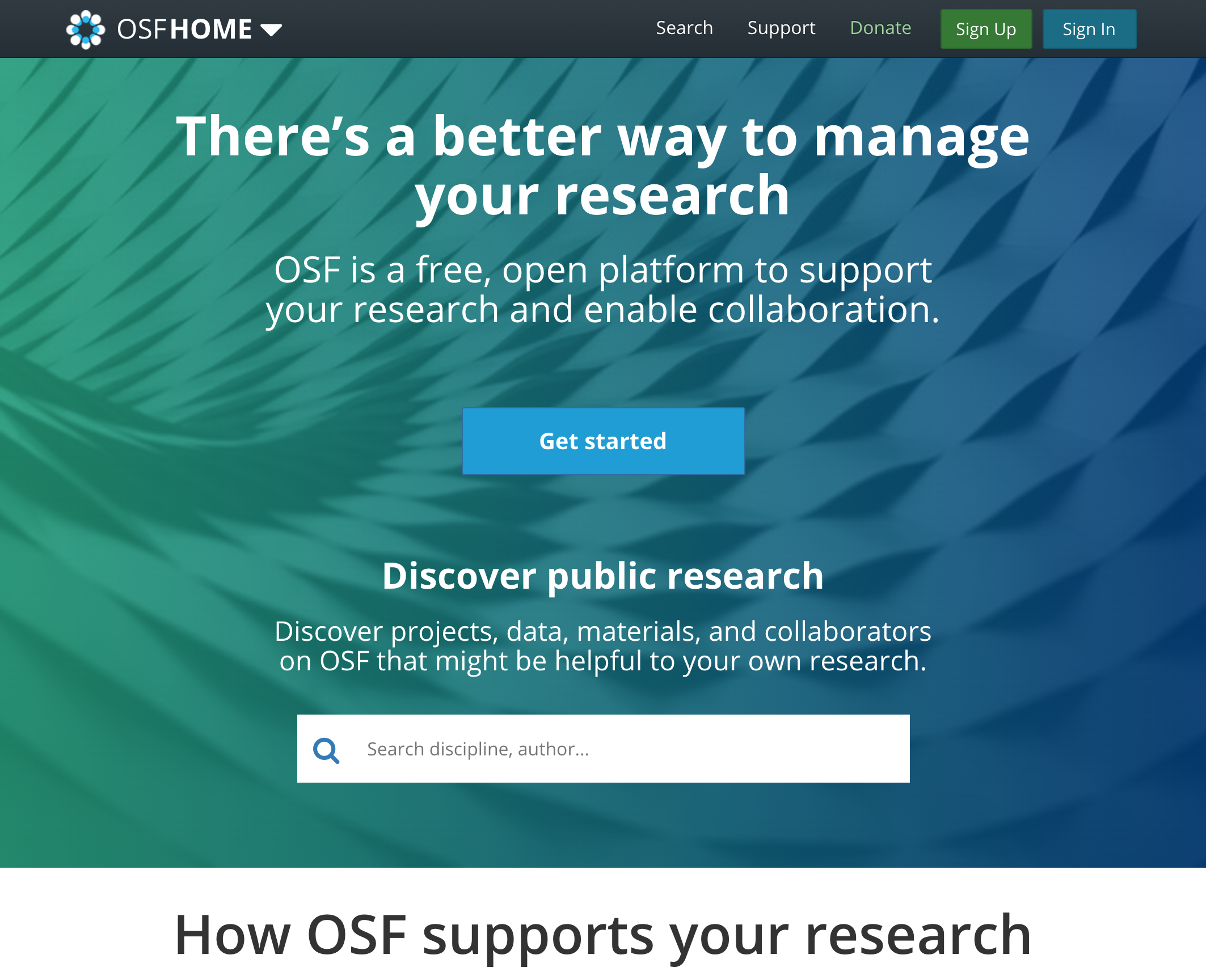 OSF: Open Science Framework